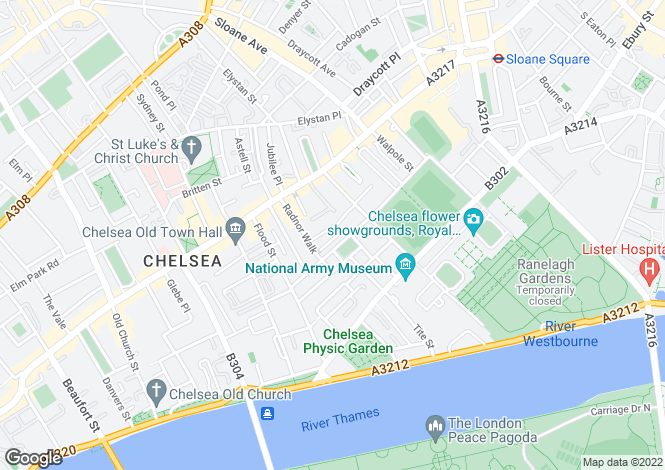 Map for Smith Terrace, London, SW3