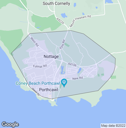 Map of property in Porthcawl
