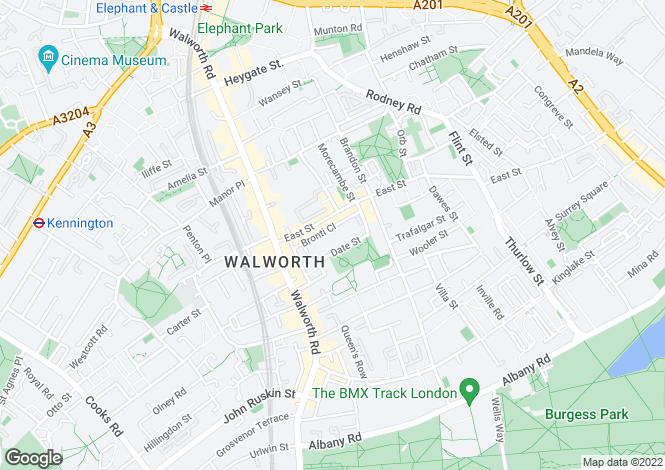 Map for Trafalgar House, Bronti Close, Walworth SE17