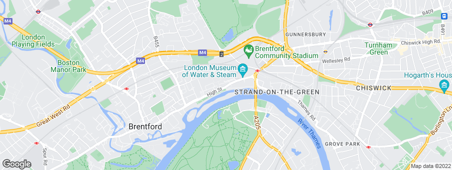 Map for Kew Bridge West   development by St James