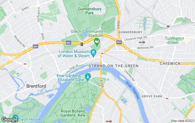 Map for Benham & Reeves Lettings, Kew