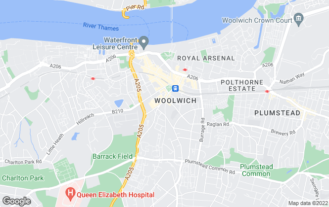Map for John Payne, Woolwich