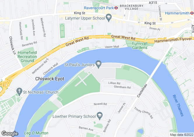 Map for Lower Mall, Hammersmith, London, SW13