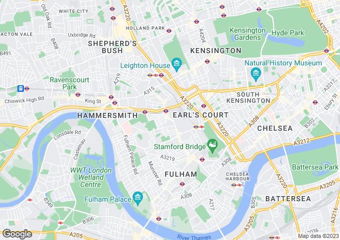 Map for Marzell House, West Kensington, London, W14