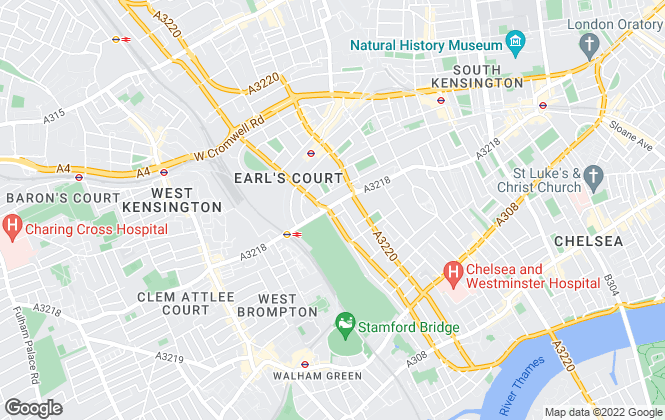 Map for Barnard Marcus, Earls Court