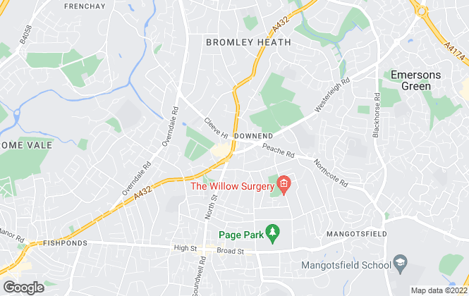 Map for Andrews Estate Agents, Downend