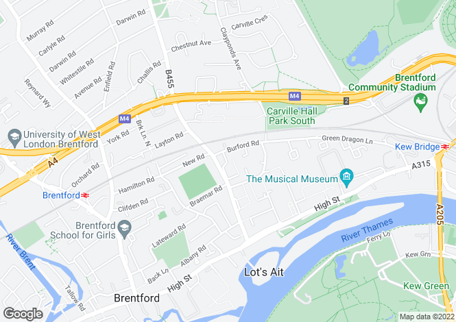Map for Holland Gardens, Brentford, TW8