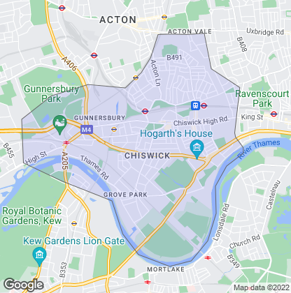 Map of property in Chiswick