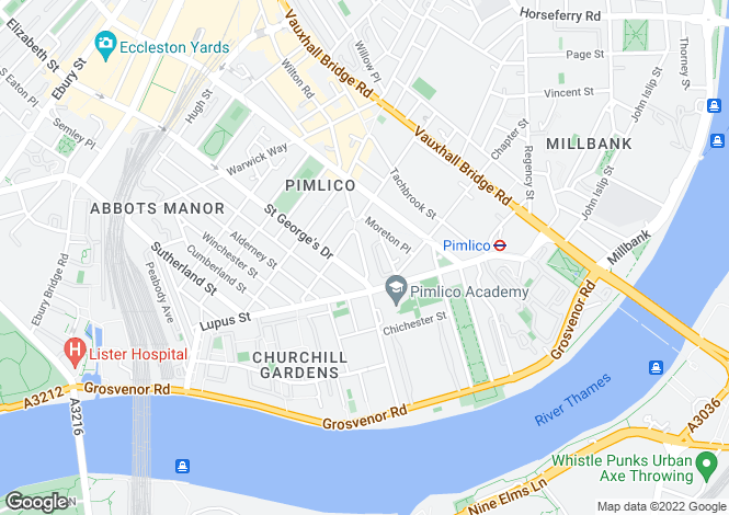 Map for Denbigh Street, Pimlico, London, SW1V