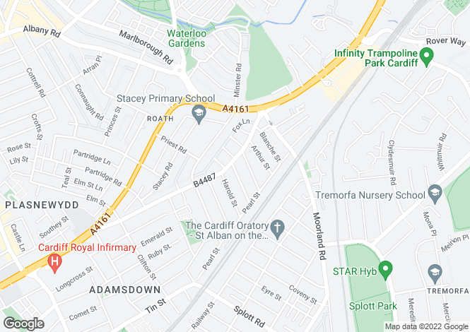 Map for 58-60 Broadway , Roath, Cardiff, Cardiff. CF24 1NL