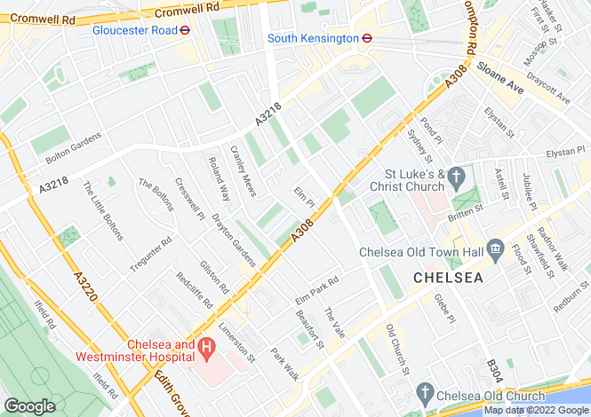 Map for Cranley Gardens South Kensington SW7