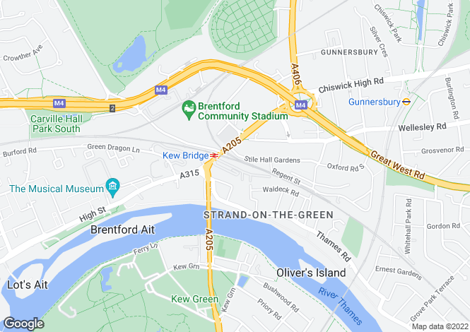 Map for Kew Bridge Court, W4