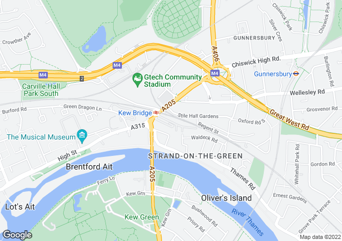 Map for Kew Bridge Court, Chiswick High Road, W4