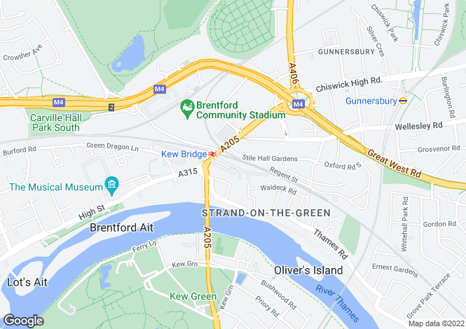 Map for Kew Bridge Court London