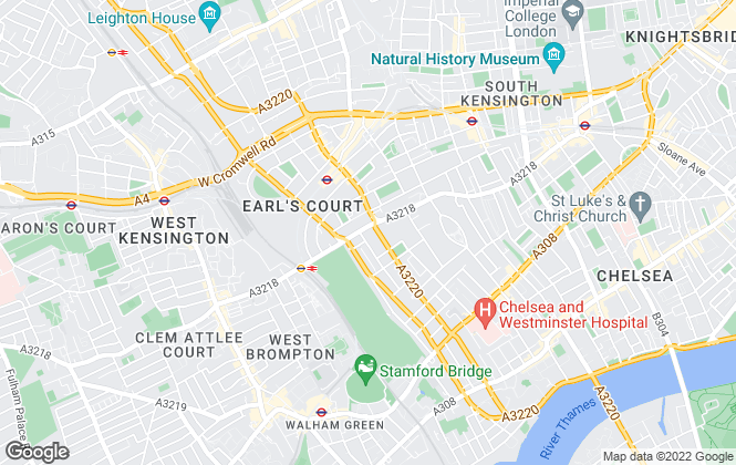 Map for Foxtons, Earls Court