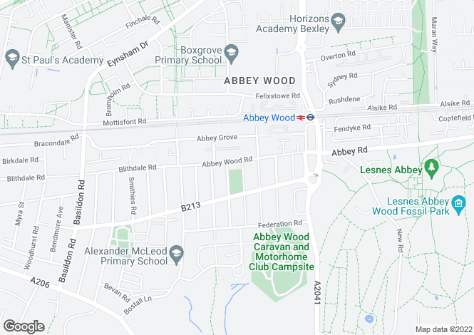 Map for Abbey Wood Road, Abbey Wood