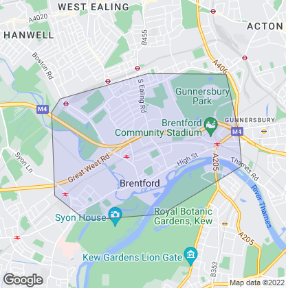 Map of property in Brentford