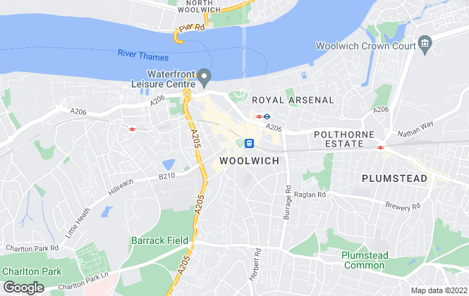 Map for Mann , Woolwich