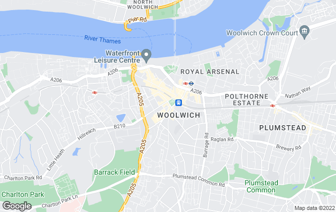 Map for Mann Countrywide, Woolwich