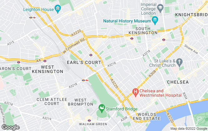 Map for Savills, Earls Court