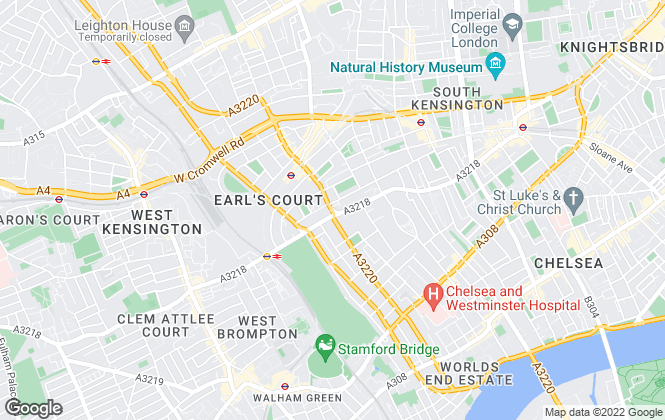 Map for Savills Lettings, Earls Court