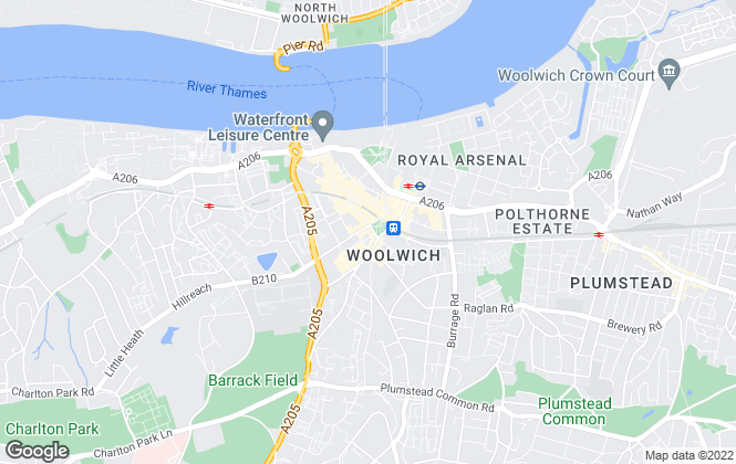 Map for Mann Lettings, Woolwich