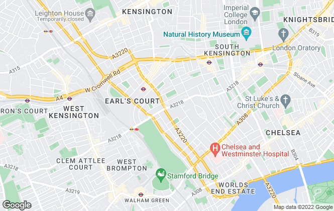 Map for Marsh & Parsons, Earls Court