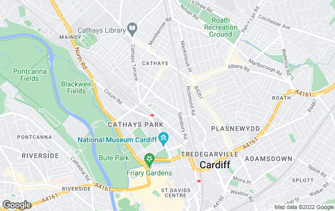 Map for 2 Let 2, Cardiff