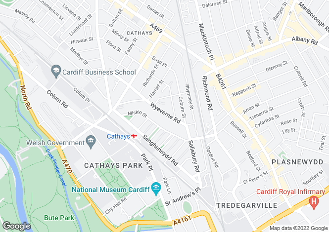 Map for Wyeverne Road,