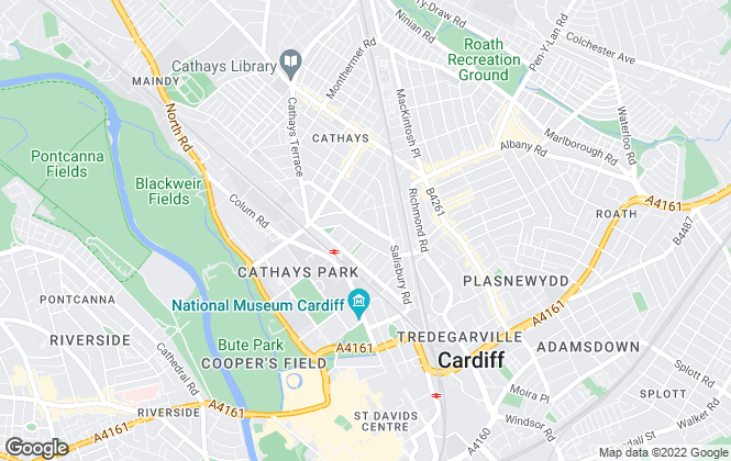 Map for Kingstons, Cardiff