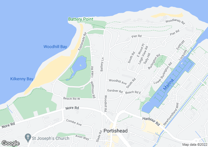 Map for Portishead, Bristol