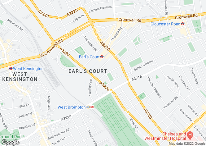 Map for Earl's Court Square, London SW5