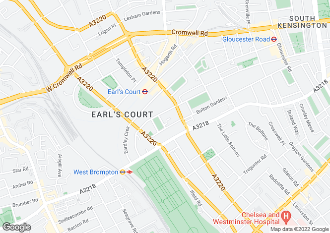 Map for Earls Court Square, London
