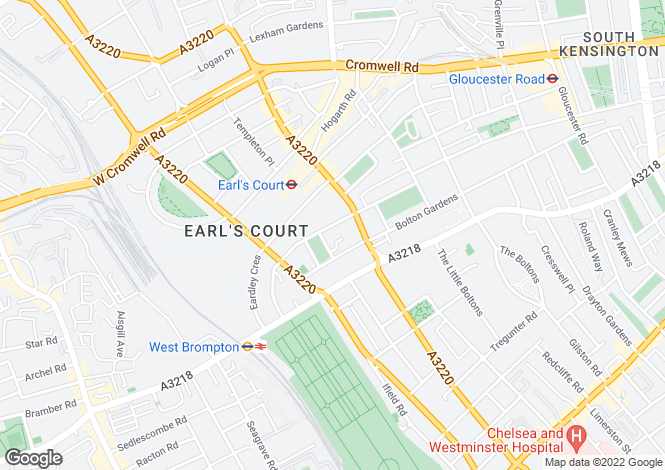Map for Earls Court Square, Earls Court, SW5