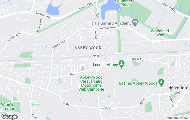 Map for Hunters, Abbeywood London