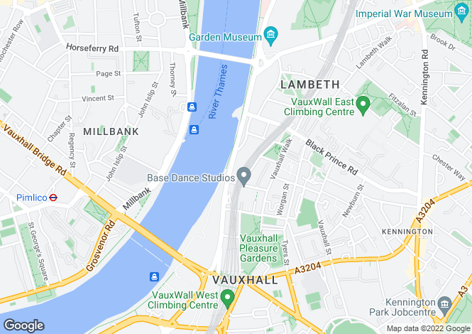 Map for Albert Embankment SE1
