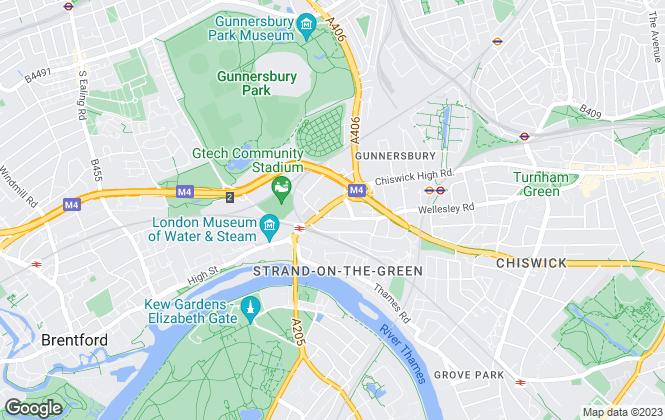 Map for Fraser & Co, Kew Bridge & Brentford