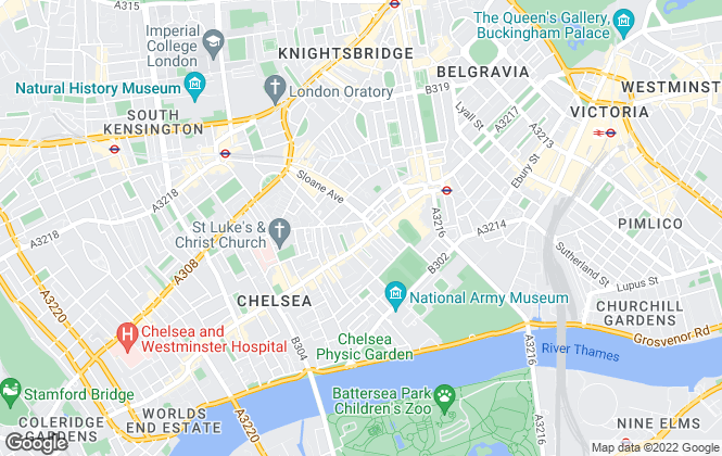 Map for 1st Asset, Chelsea
