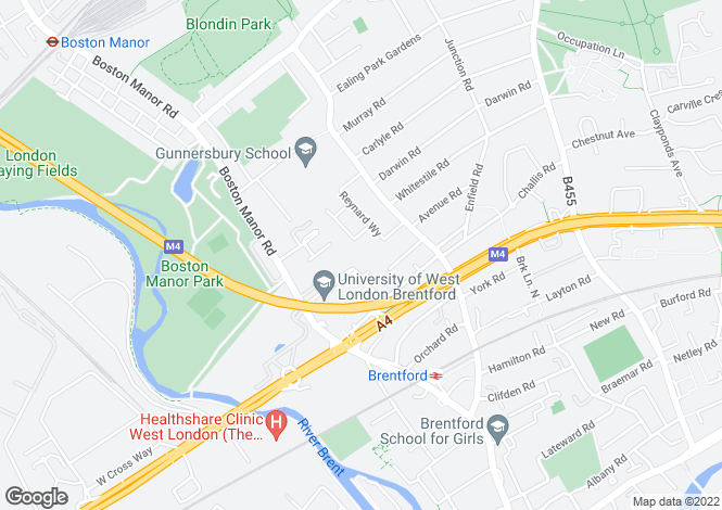 Map for Paragon Site, Boston Manor Road, Brentford, TW8