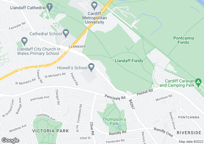 Map for Ferndale Lodge, Llandaff, Cardiff, CF5 2AA