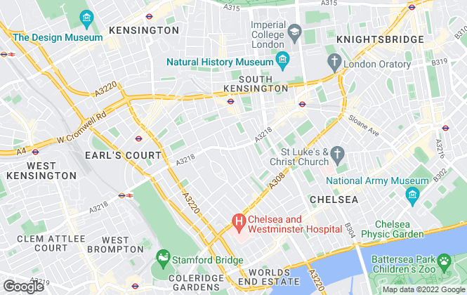 Map for Dexters, South Kensington