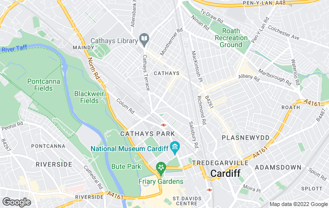 Map for Interlet, Cardiff