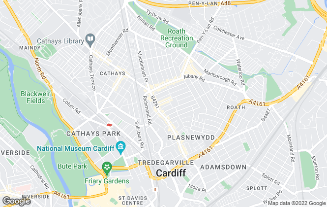 Map for DTP Property, Cardiff