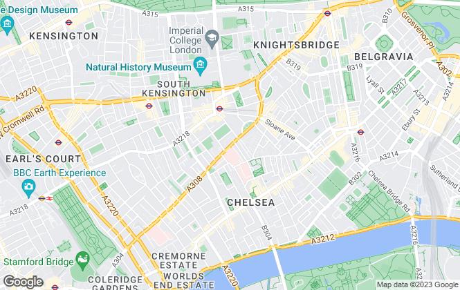 Map for John D Wood & Co, Chelsea, Fulham Road