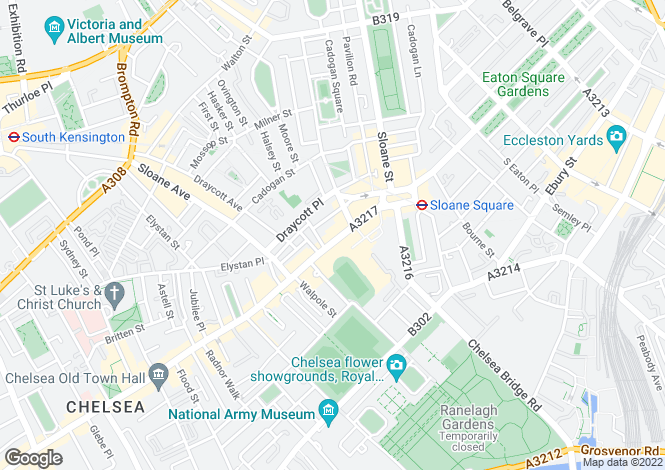 Map for Kings Road, Chelsea, London, SW3