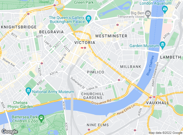 Map for Hamptons International Sales, Pimlico & Westminster Sales