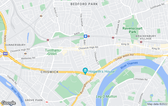 Map for Henry Wright Residential, Chiswick