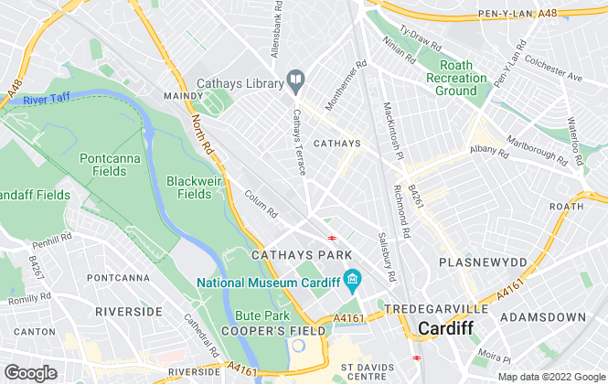 Map for Moginie James, Cathays - Lettings