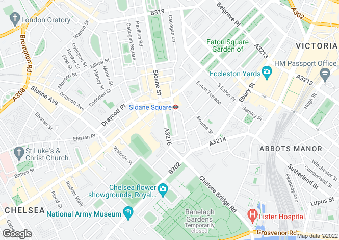 Map for Sloane Gardens, London SW1W