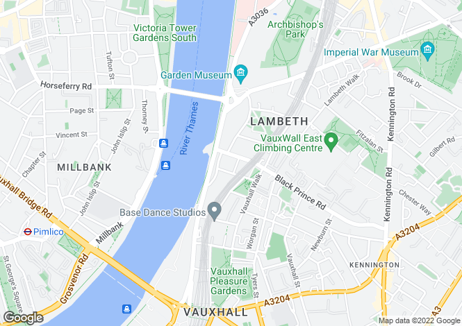Map for 9 Albert Embankment, Vauxhall